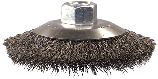 Crimped Bevel Mini Cup Brush 4 In, .014