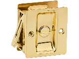 Pocket Door Privacy Lock Polished Brass