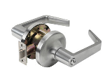 Keyed Entry Lever Lockset Tell Grade 2 Satin Chrome