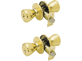 Keyed Entry Lockset (Pair) Tulip G3 Polished Brass