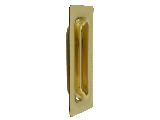 Pocket Door Pull Flush Mount V141 Brass