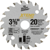 Carbide Tip Crosscut Rip Saw Blade 3-3/8 In, 20 Tooth
