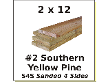 2 x 12 #2 Southern Yellow Pine S4S (Lengths)