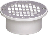PVC Floor Drain Strainer, 3 In Or 4 In  (2