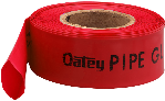 Pipe Guard Protector For Pipes In Concrete, Red
