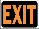 Sign 9 x 12 Plastic: Exit