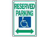 Sign 12 x 18 Aluminum: Reserved Handicapped