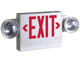 LED Exit Sign With Emergency Lighting