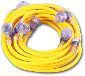 Yellow Pro Cap STW 12/3 Multi Outlet Extension Cord, 50 Ft