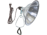 Heavy Duty Clamp Light, 8-1/2 In Reflector