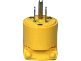 Commercial Grounding Round Plug, 15 Amp
