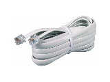 White Telephone Line Cord, 50 Ft