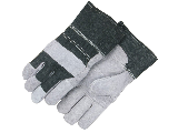 Split Cowhide Palm Patch Safety Cuff Work Glove Large