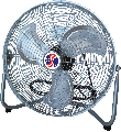 Hi-Velocity Chrome Fan, 12 In