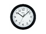 Wall Clock Simple Black 8 In