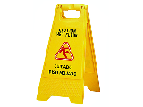 Wet Floor Caution Sign Bilingual