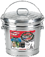 Galvanized Sheet Trash Can With Lid 6 Gallon