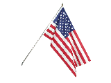 American Flag Kit 3 x 5 with 6 Foot Pole