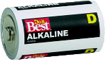 Household Use Alkaline Size D, 4 Pack