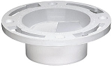 PVC-DWV Closet Floor Flange With Testcap, 3 In Or 4 In