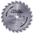 Carbide Teeth Framing Circular Saw Blade 7-1/4 In, 24 Tooth