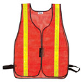 Premium Orange Safety Vest With Reflective Stripes