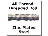 All Thread Rod Zinc Plated Steel Fine Thread