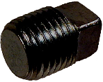 Schedule 40 Black Steel Square Head Plug