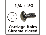 1/4-20 Carriage Bolts Chrome Plated