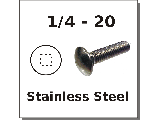 1/4-20 Carriage Bolts Stainless Steel