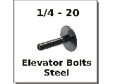 1/4-20 Elevator Bolts Steel