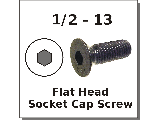 1/2-13 Flat Head Socket Cap Screw Alloy Steel Plain Finish