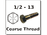 1/2-13 Hex Bolts Grade 8