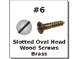 #6 Oval Head Slotted Brass
