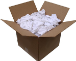 Select #1 White Rags 25 Lb Box