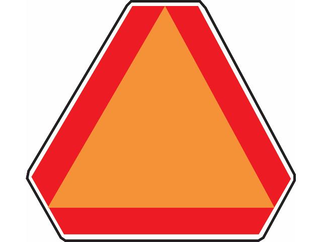 Aluminum Slow Moving Vehicle Sign