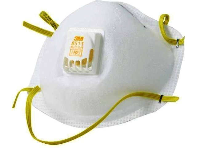 N95 Mask 10 Cool Respirator 8511 Count 3m Flow