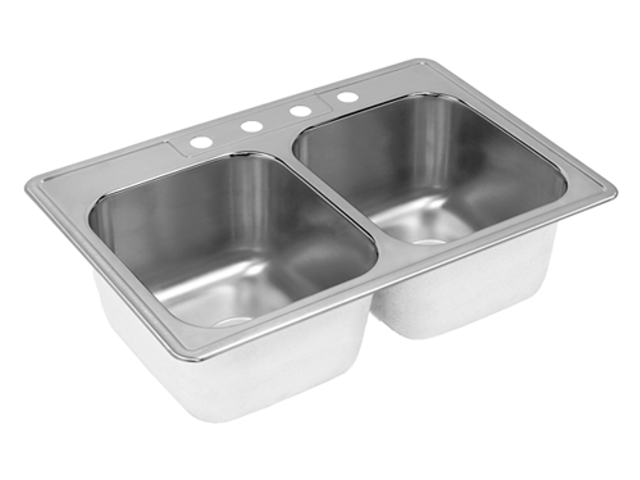 Cox Hardware And Lumber Stainless Steel Double Bowl Kitchen Sink 6 In Deep