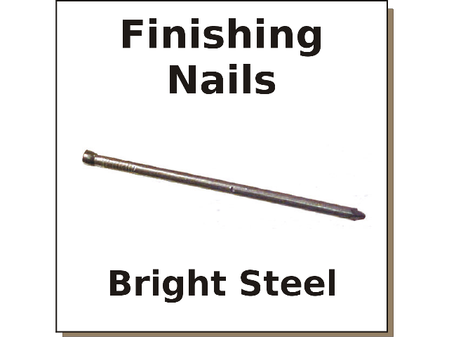 Cox Hardware And Lumber Bright Finishing Nails Sizes 3d To 8d