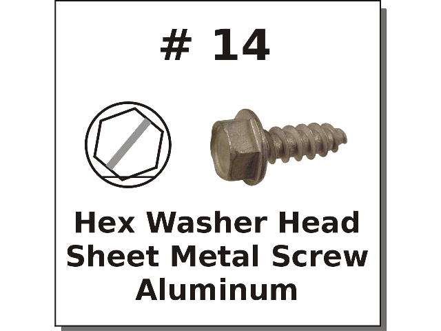 #14 Hex Slotted Sheet Metal Screw Aluminum