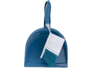 Rubber Grip Brush And Dustpan Set