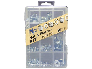 Nut & Washer Assortment 235 Piece