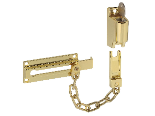 Chain Door Keyed Lock #V806  Bright Brass