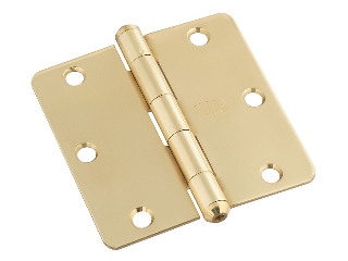 Cox Hardware and Lumber - Round Corner #513RC Solid Brass Door Hinge ...