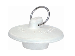 Universal Rubber Sink Stopper, 1 To 1 3/8 In
