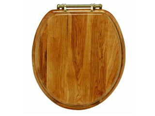 Wood Round Toilet Seat, Oak