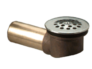 Brass Waste Shoe With Strainer, 1-3/8 In Tube