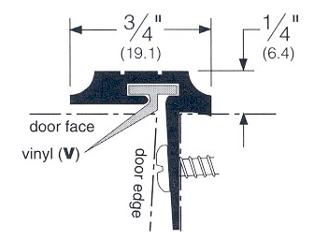 Double Door Seal T-Astragal 84  Aluminum  sc 1 st  Cox Hardware and Lumber & Cox Hardware and Lumber - Aluminum Double Door Seal T-Astragal 84 In