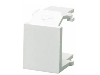 Quick Port CAT 5E Wall Plate Blank Inserts, 6 Pack