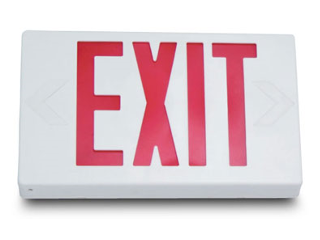 Single Arrow LED Exit Sign With Battery Back Up